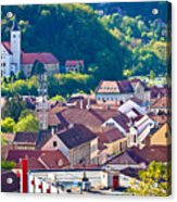 Town Of Krapina Rooftops View Acrylic Print