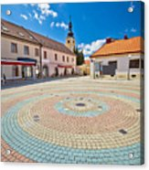 Town Of Ludbreg Square Vertical View Acrylic Print