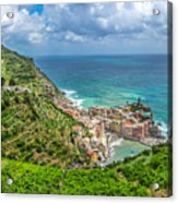 Town Of Vernazza, Cinque Terre, Italy Acrylic Print