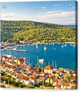 Town Of Vis Panorama From Hill Acrylic Print