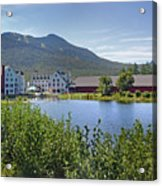 Town Square By The Pond At Waterville Valley Acrylic Print