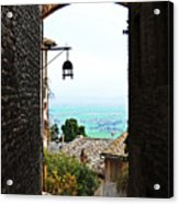 Town View In Italy Acrylic Print