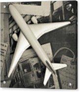 Toy Airplane Vintage Travel Acrylic Print
