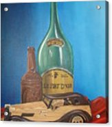 Toy Car And Bottles Acrylic Print