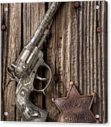 Toy Gun And Ranger Badge Acrylic Print