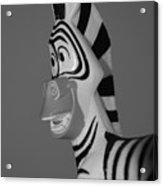 Toy Zebra Acrylic Print