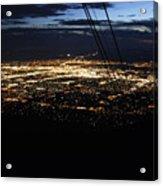 Tr07 Sandia Tram Acrylic Print