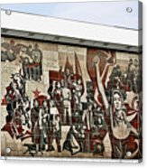 Traces Of Socialist Idealism In Dresden Acrylic Print by Christine Till