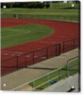 Track And Field Of Depth  Acrylic Print
