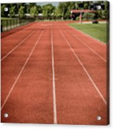 Track And Field Of Depth One Acrylic Print