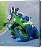 Track Day - Kawasaki Zx9 Acrylic Print