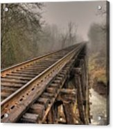 Track To Some Where Acrylic Print