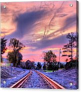 Tracking Towards A Cure Acrylic Print by JC Findley