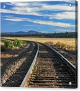 Tracks At Crater Lake Acrylic Print