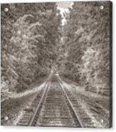 Tracks Bw Acrylic Print