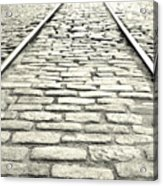 Tracks In The Road Acrylic Print