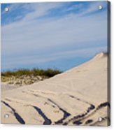 Tracks In The Sand Dunes Acrylic Print