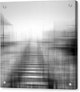 Tracks In The Snow Acrylic Print