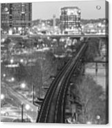 Tracks Into The City Acrylic Print