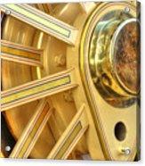 Traction Engine Wheel Acrylic Print