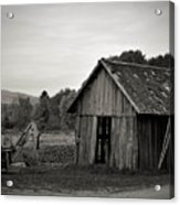 Tractor and Shed Acrylic Print