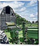 Tractor Barn Acrylic Print