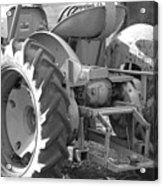 Tractor In Black And White  Acrylic Print