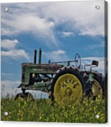 Tractor In Field Acrylic Print