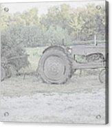 Tractor   Pencil Drawing Acrylic Print