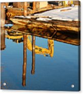 Tractor Reflections Acrylic Print