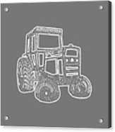 Tractor Transparent Acrylic Print