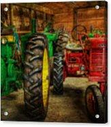 Tractors At Rest - John Deere - Mccormick - Farmall - Farm Equipment - Nostalgia - Vintage Acrylic Print