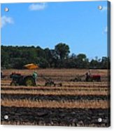 Tractors Competing Acrylic Print