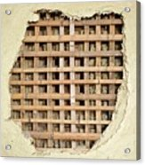 Traditional Bamboo Mud Wall Construction Acrylic Print