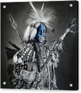 traditional dancer Blue Acrylic Print