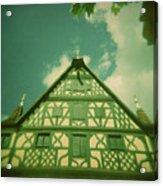Traditional House Roth Germany Cross Process Holga Photography Acrylic Print