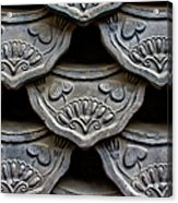 Traditional Korean Roof Tiiles Acrylic Print