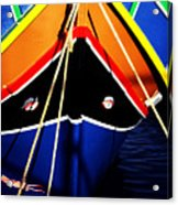 Traditional Maltese Fishing Boat Acrylic Print