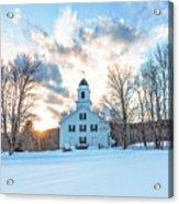 Traditional New England White Church Etna New Hampshire Acrylic Print