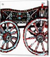 Traditional Painted Donkey Cart  Acrylic Print