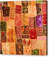 Traditional Patchwork Tapestry Acrylic Print