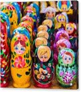 Traditional Russian Matrushka Nesting Puzzle Dolls Acrylic Print