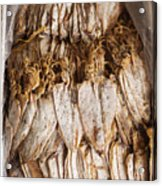 Traditional Sun Dried Squid In Kep Market Cambodia Acrylic Print