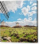 Traditional White Windmills  Acrylic Print
