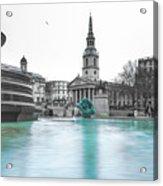 Trafalgar Square Fountain London 3 Acrylic Print