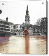 Trafalgar Square Fountain London 3b Acrylic Print