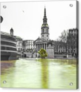 Trafalgar Square Fountain London 3c Acrylic Print