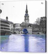 Trafalgar Square Fountain London 3d Acrylic Print