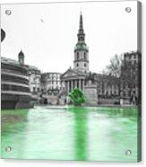 Trafalgar Square Fountain London 3f Acrylic Print