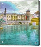 Trafalgar Square Fountain London 4 Acrylic Print